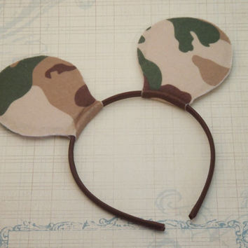 Mickey Mouse Ears, Camouflage Mickey Mouse Ears, Boy Mickey Ears, Minnie Mouse Ears, Disney Ears, Hair Accessories