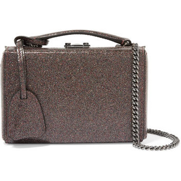 Mark Cross - Grace mini glittered leather shoulder bag