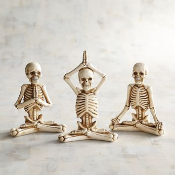 Yoga Skeletons Set