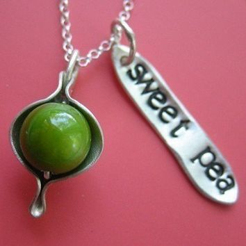 Sweet Pea Necklace by sudlow on Etsy