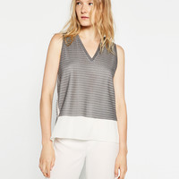 METALLIC MESH TOP - NEW IN-WOMAN | ZARA United Kingdom