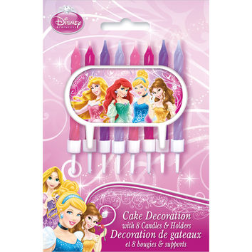 Disney Princess Party Candles and Holders