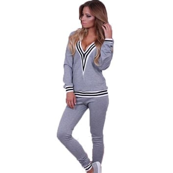 Sweatshirt Tracksuits 2016 Spring Autumn Plus Sport Suit Women sweat suits abbigliamento donna conjunto chandal mujer jogging