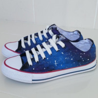 Galaxy Converse shoes - Free Shipping Hand Painted Shoes from denimtrend