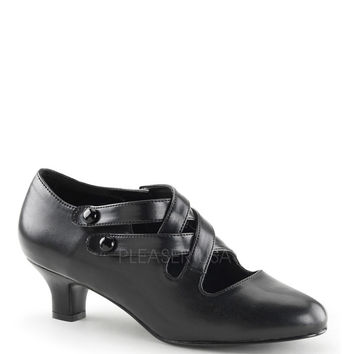 Funtasma Dame-02 Black Kitten Heel Pump