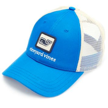 Vineyard Vines Whale Patch Trucker Hat- Aviator Blue