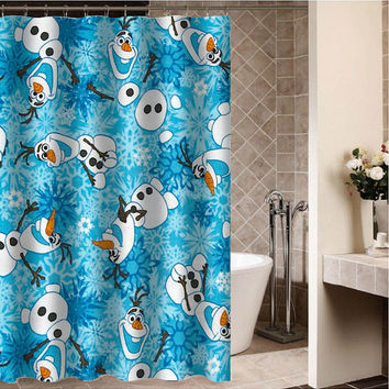 "olaf disney frozen Custom Shower curtain,Sizes available size 36""w x 72""h 48""w x 72""h 60""w x 72""h 66""w x 72""h"