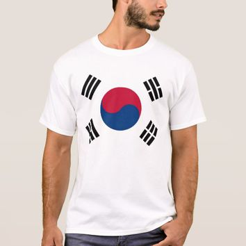 T Shirt with Flag of South Korea