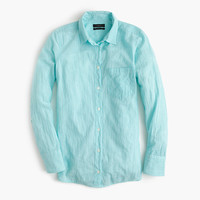 J.Crew Womens Boy Shirt In Aqua Skinny Stripe