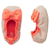 OshKosh Suede Scrunch Ballet Crib Shoes
