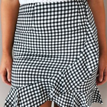 Check Yourself Skirt: Black/White