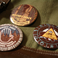 gravity falls pinback buttons