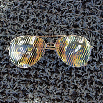 Tiger Print Sunglasses Party Sunglasses Festival Wear Fun Accessories Cool Aviators Rave Outfit Wild Shades