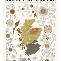 Scotch Lovers Whiskey & Distilleries of Scotland Poster