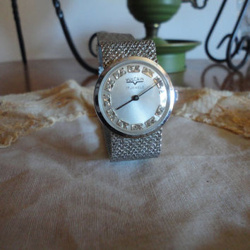 Vulcain Silver Ladies Wind Up Wrist Watch