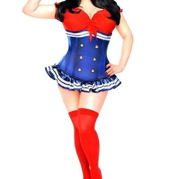 Daisy Top Drawer 3 PC Pin-Up Sailor Girl Costume