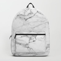 Marble Texture Backpack by Printapix