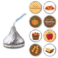 Thanksgiving Label for HERSHEY'S KISSES® chocolates - Candy Stickers