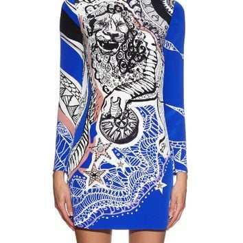 Lion-print high-neck silk dress | Emilio Pucci | MATCHESFASHION.COM US