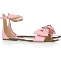 RED Valentino | Bow-embellished leather sandals | NET-A-PORTER.COM