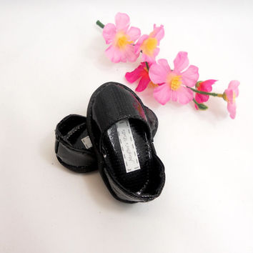 Black Shoes for American Girl Dolls Openside Shoes Patent Finish
