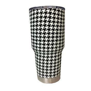 White Houndstooth Tumbler Warehouse Tumbler