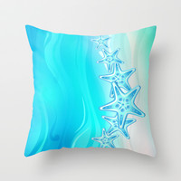 Starfish G217 Throw Pillow by MedusArt