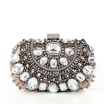 Kate Landry Jeweled Frame Clutch | Dillards