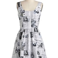 ModCloth Quirky Mid-length Sleeveless A-line Start Spreading the Mews Dress