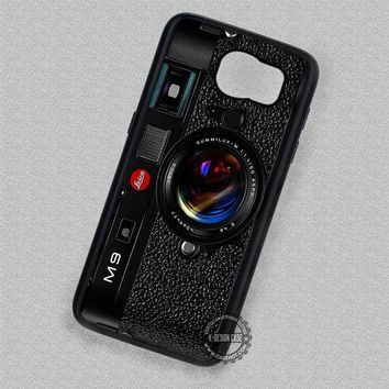 Cool Black Camera Leica M9 Vintage - Samsung Galaxy S7 S6 S5 Note 7 Cases & Covers
