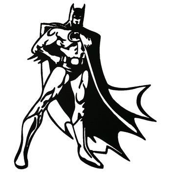Batman Superhero Standing Decorative Metal Wall Sign