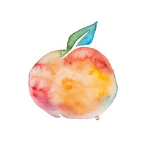 Peach Print - Archival Quality Watercolor Giclee