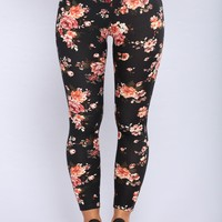 Flowers In Bloom Leggings - Floral
