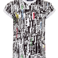 MULTI MASH UP PRINT T-SHIRT - Men's T-shirts & Tanks - Clothing - TOPMAN USA