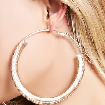 Wire-Wrap Hoop Earrings