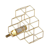 Hex Wire Wine Rack in Gold
