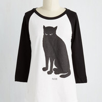 Vintage Inspired, 80s, Eco-Friendly, French Mid-length 3 Francophile Feline Top