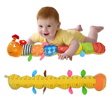 New baby plush toy musical caterpillar rattle with ring bell cute cartoon animal stuffed