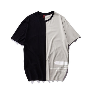 Men Round-neck Short Sleeve Tops Summer T-shirts [10277045255]