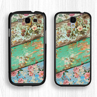 Samsung case,floral GALAXY Note3 case,wood grain GALAXY Note2 case,old wood Galaxy S4 case,art flower Galaxy S3 case,Galaxy S5 case