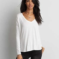 AEO Soft & Sexy Drop Shoulder T-Shirt, Natural White