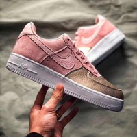 NIKE AIR FORCE 1 QS GS AF1 Sakura powder air force No. 1 women's shoes