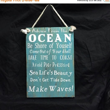 FALL BLOWOUT SALE Ocean Quotes - Ocean Sign - Quotes - Beach signs - Signs - Word Art - Custom quotes - Wedding signs - Custom Made -Jack Ja