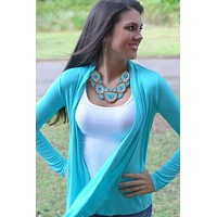 Go With The Flow Cardigan Mint