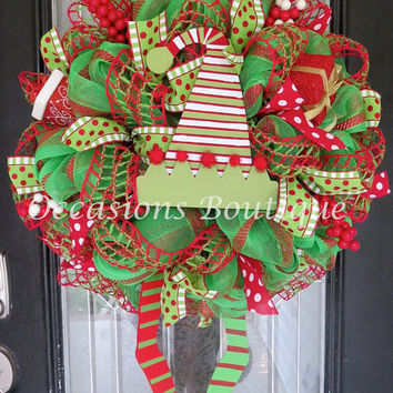 Christmas Wreath, Door Hanger, Wreath for Door, Holiday Wreaths, Made to Order Wreath, Christmas Decoration