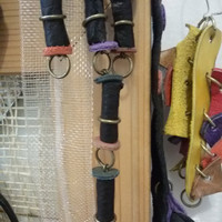 Leather beads,  Jewelry Craft Supplies, Leather, Eco beads,  Handmade Supplies,