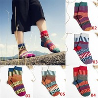s Wo Girls Socks Hosiery Stocking Wool Cashmere Warm Soft Thick Multicolor Winter Casual Fashion EF11