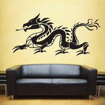 ik1589 Wall Decal Sticker Dragon mythical animal living bedroom teens