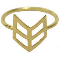 Gold Plated Chevron Arrow Ring