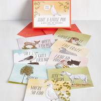 Quirky Have a Little Pun Notecard Set by Chronicle Books from ModCloth
